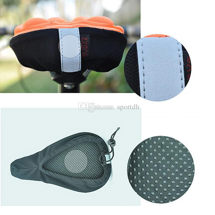 Bicycle Bike 3D Silicone Gel Pad Seat Saddle Cover Soft Cushion F00293 SPDH