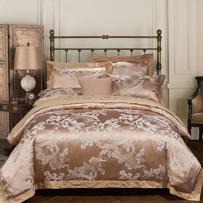 Luxury Bedding Sets Embroidered Wedding Duvet Cover Set Jacquard ...