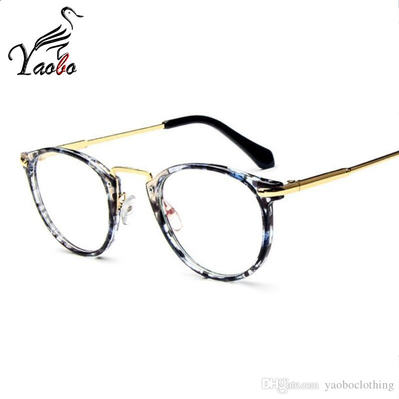 5c5fadb25b3 2019 Yaobo Retro Transparent Glasses Frame Men Women Clear Eyeglasses Frames  Nerd Optical Spectacles Myopia Round Rimless Vintage Eyewear From  Yaoboclothing ...