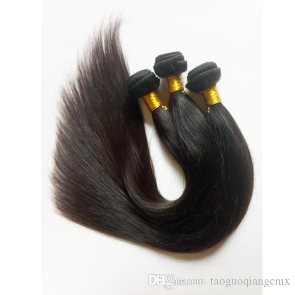 Factory Direct Sprzedaż Hurtownie Udokressja Brazylijski Dziewiczy Włosy 3 4 Dobry stosunek Pełny i Gruby Zdrowy koniec Jedwabisty Prosty Indian Remy Hair
