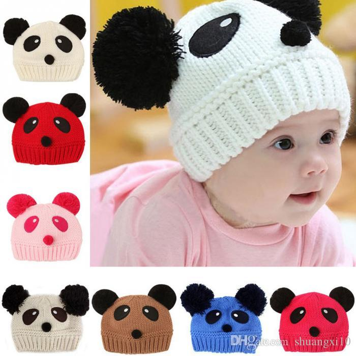 d46f1324c 2019 Cute Colors Cartoon Baby Girl Boy Toddler Winter Warm Knit ...