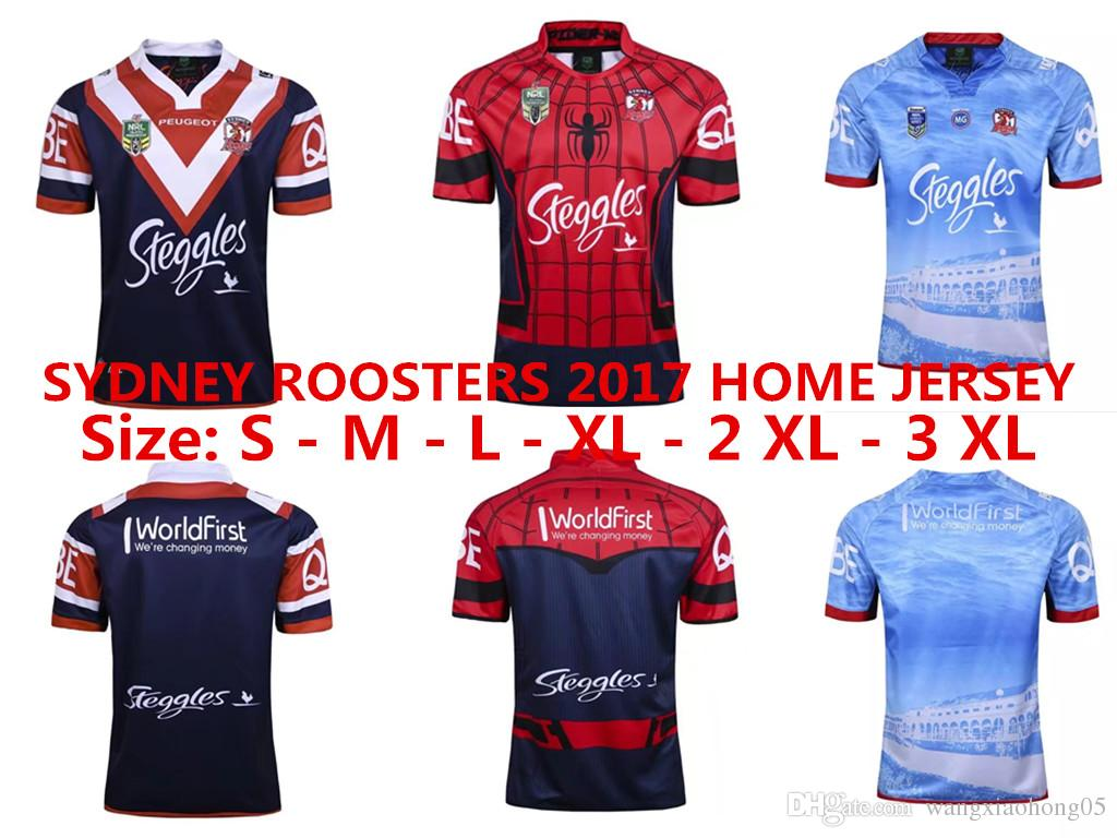 efc4c0442 2017 2018 Australia Sydney Roosters Football Jerseys Rugby Jerseys Shirt S  3XL Sydney Roosters 2017 Home Jersey UK 2019 From Wangxiaohong05