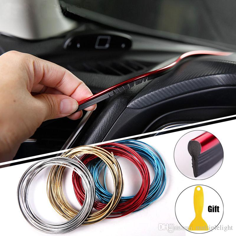 5m diy car interior decoration strips auto gap strip line car styling auto door air outlet. Black Bedroom Furniture Sets. Home Design Ideas