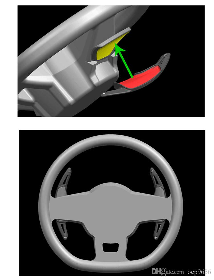 алюминиевого сплава высокого качества Манетки переключения Лопатки Extension Sporting алюминиевый сплав для Chevrolet Camaro 2016-2017
