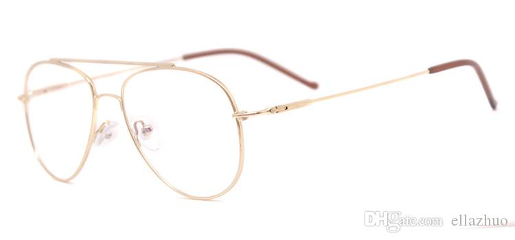 Aviation Gold Frame Sunglasses Female Classic Optics Eyeglasses ...