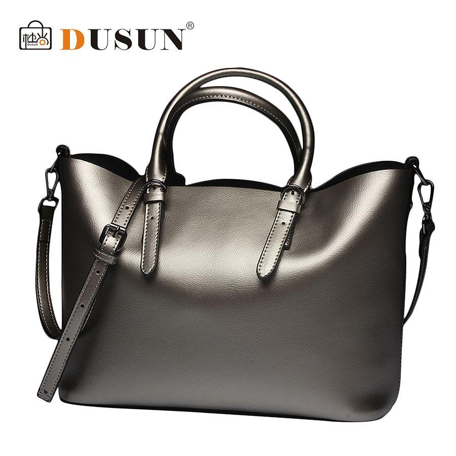 771f854b2f Wholesale Dusun Genuine Leather Bag New Women Leather Handbags Famous Brand  Women Messenger Bags Ladies Shoulder Bag Bolsos 2016 SS04 Overnight Bags  Black ...