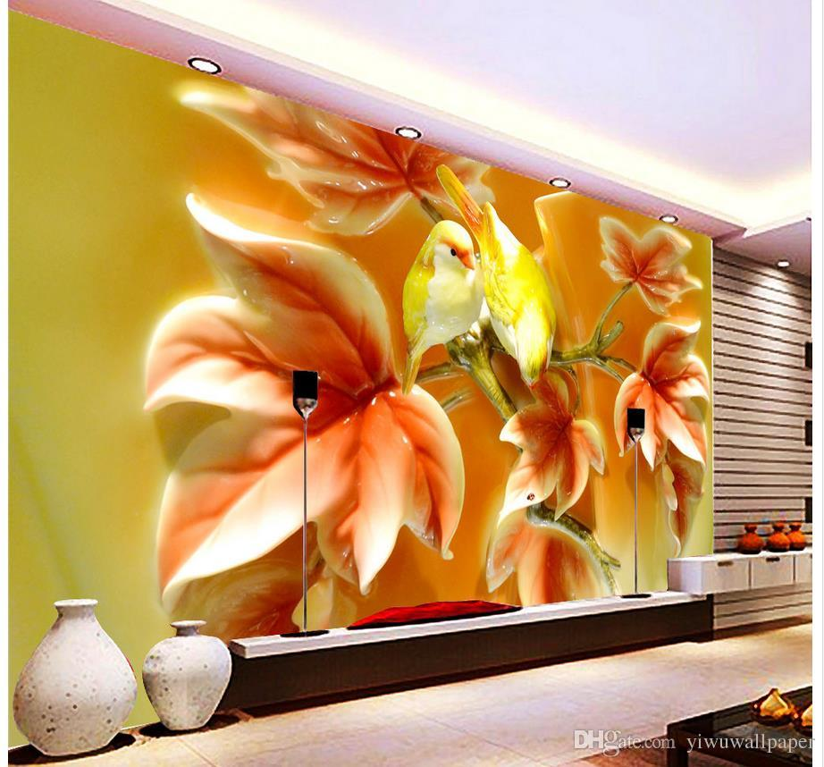 3D Flower And Bird Butterfly Home And Rich TV Background