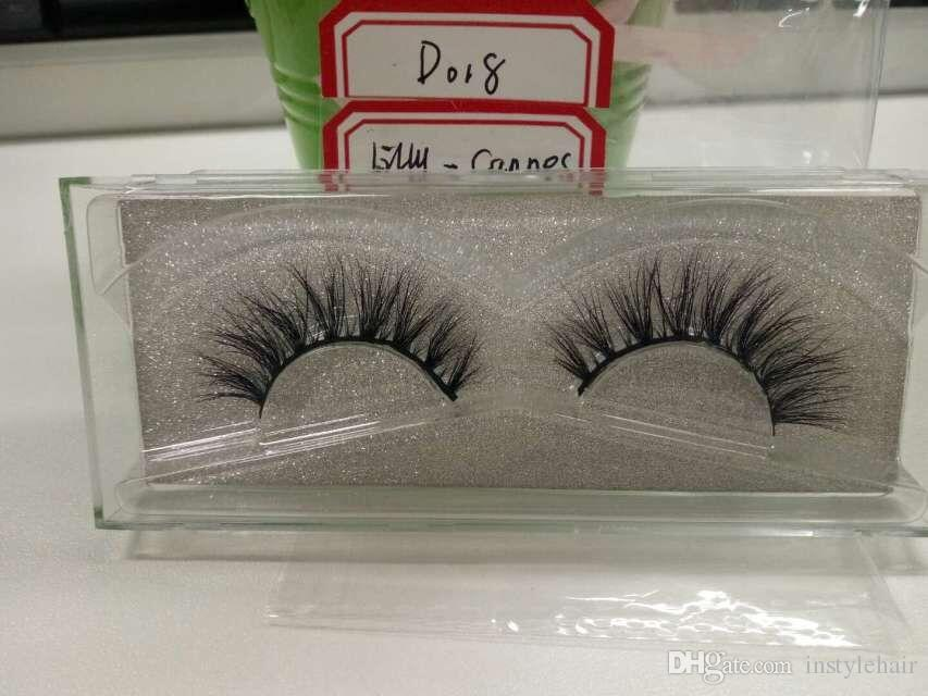 100% Handmade Mink False Eyelash Luxury 3D Strip Mink Lashes Thick Crisscross Faux Eyelashes Makeup Beauty