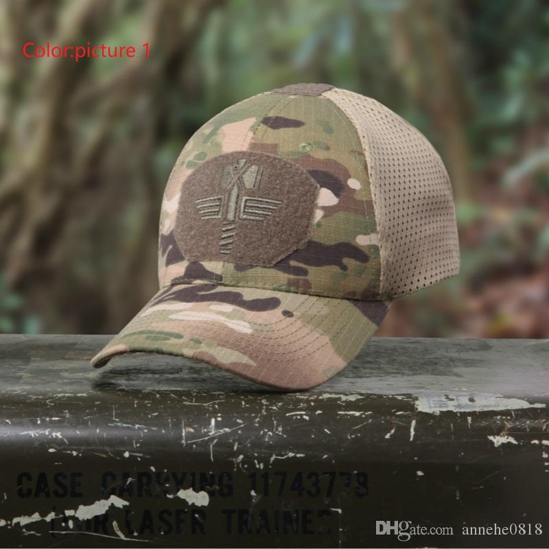 2019 Tactical Caps   Hats Camouflage Baseball Cap CS Tactical Mesh Hat  Outdoor Hunting Leisure Sports Cap From Annehe0818 9fe6f1b47c5