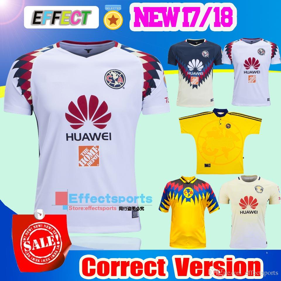 41227f12e9d ... Shirt TOP Quality 2016 2017 LIGA MX Club America soccer Jerseys 100  years home away Third Black . ...