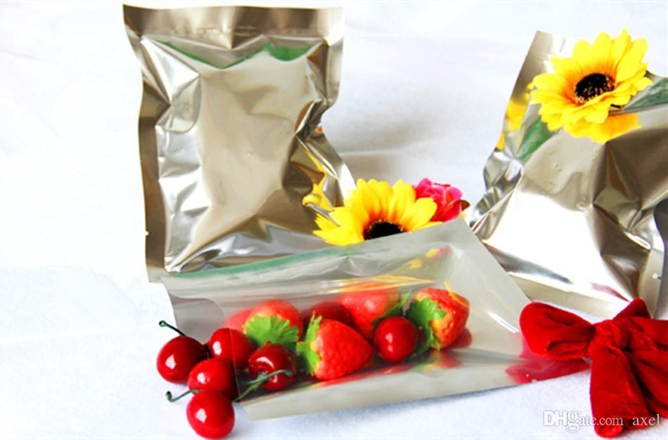 16x23cm Vacuum Cooked Food Heat Sealing Mylar Aluminum Foil Packaging Bags Smell Proof Laminating Package Snacks Translucent Showcase Pouch
