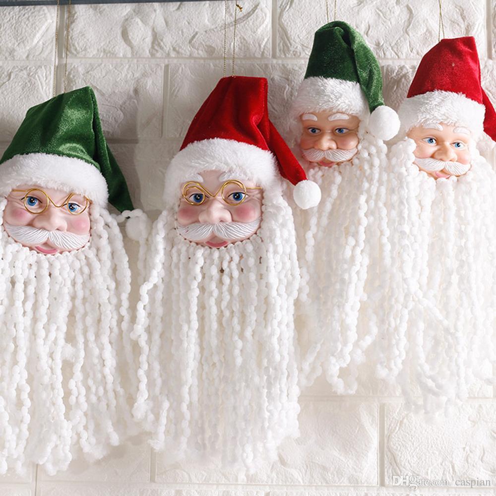 Cute White Beard Santa Claus Christmas Tree Hanging Decorations ...