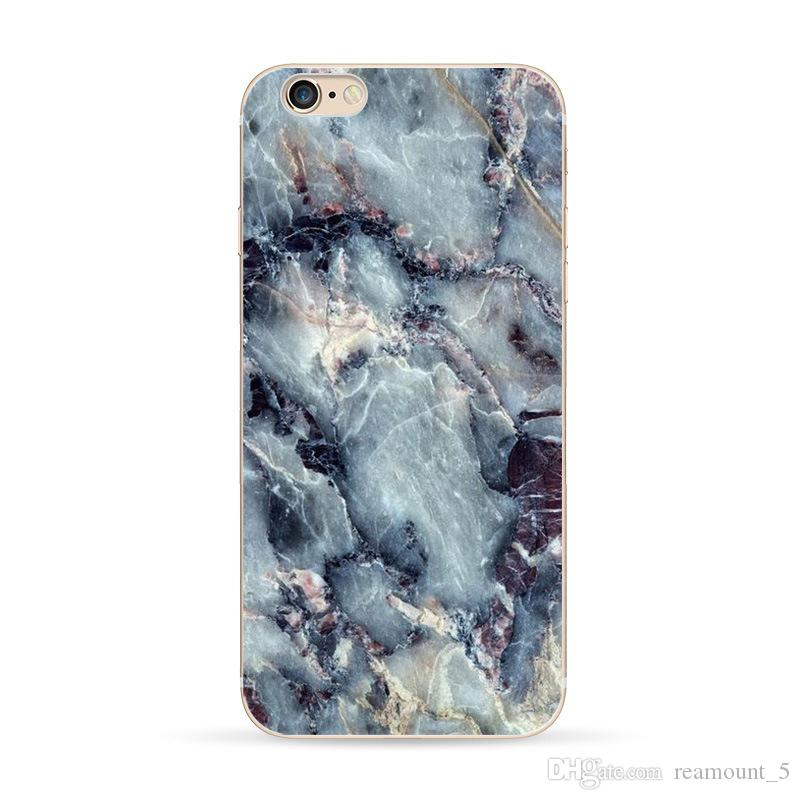 Personalized Customize Ultra Thin Soft TPU Phone Case for iPhone 6 6 Plus 7 7 Plus Marble Skin Mobile Phone Shell
