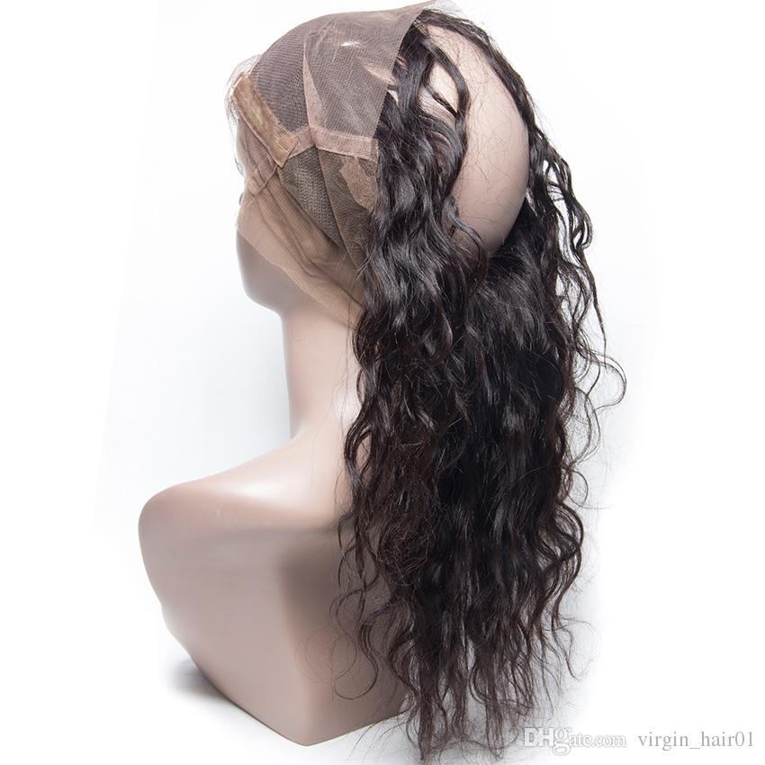 9A Malasyian Haar Nass und Wellenförmig Mit 360 Volle Spitze Frontals Wasserwelle Menschliches Haar Bundles Mit Spitze Band Frontal Schließung 4 Stücke viel
