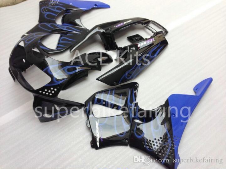 3 free gifts For HONDA CBR900RR 96 97 CBR 900RR 893 1996 1997 Fairing black Blue flame AS13