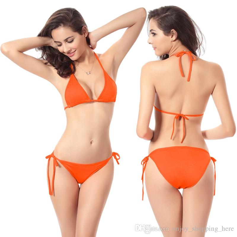 비키니 세트 수영복 수영복 새로운 섹시한 홀터넥 탑 비키니 여성 붕대 위로 복고풍 여성 비치웨어 수영복 비키니 YDM005