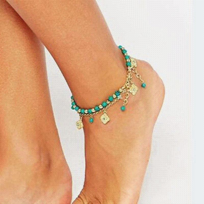Anklets Smart Women Boho Aqua Anklet Ankle Bracelet Barefoot Sandal Beach Foot Jewelry Discounts Sale
