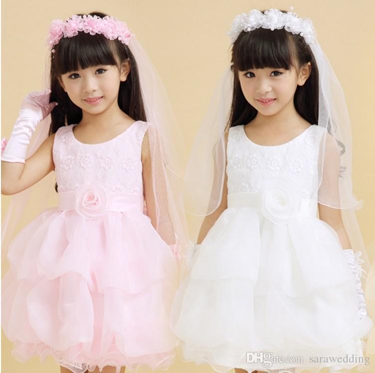 2017 Nouvelle Mode Filles Fleur Coréenne Tiara Guirlande Avec Voile Blanc Enfants Coiffure Filles Cheveux Accessoires Princesse Guirlande