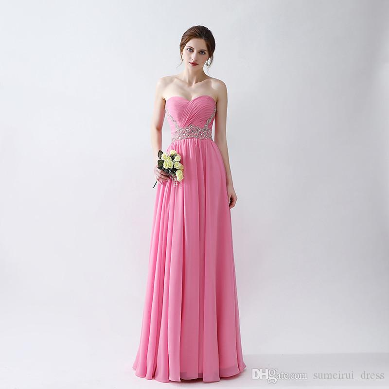Simple A Line Prom Dresses 2017 Hot Sale Chiffon Formal Evening ...