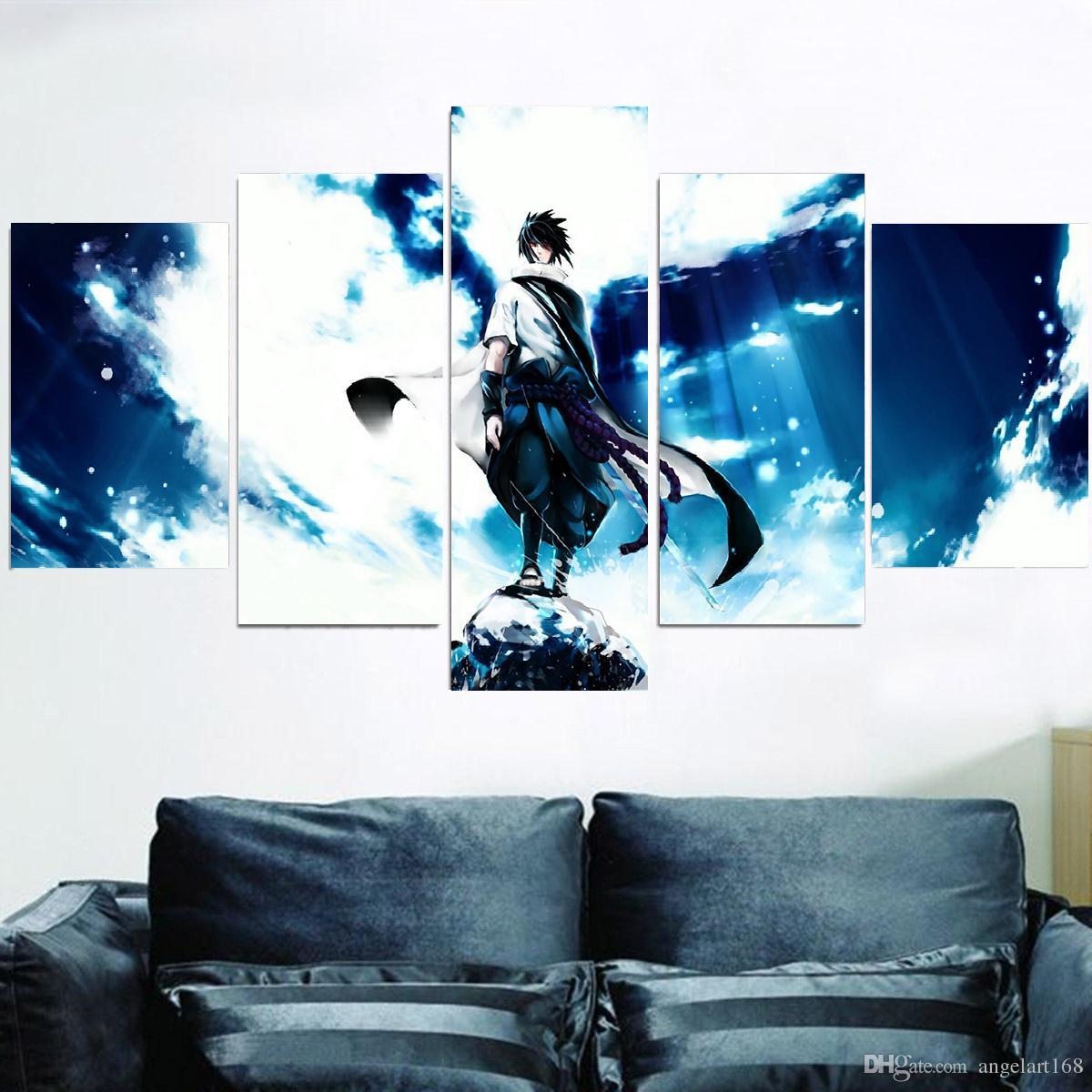 2018 Unframed Naruto Ninja Sasuke Blue Sky Hd Print On Canvas Wall ...