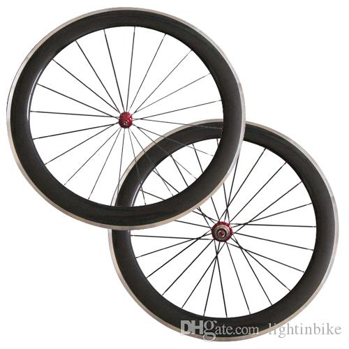 fbba383811e R36 Hubs 60mm Clincher Carbon Bike Wheels with Alloy Brake Track ...