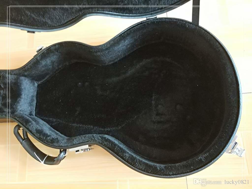Пользовательские LP гитара чемодан черный бесплатная доставка