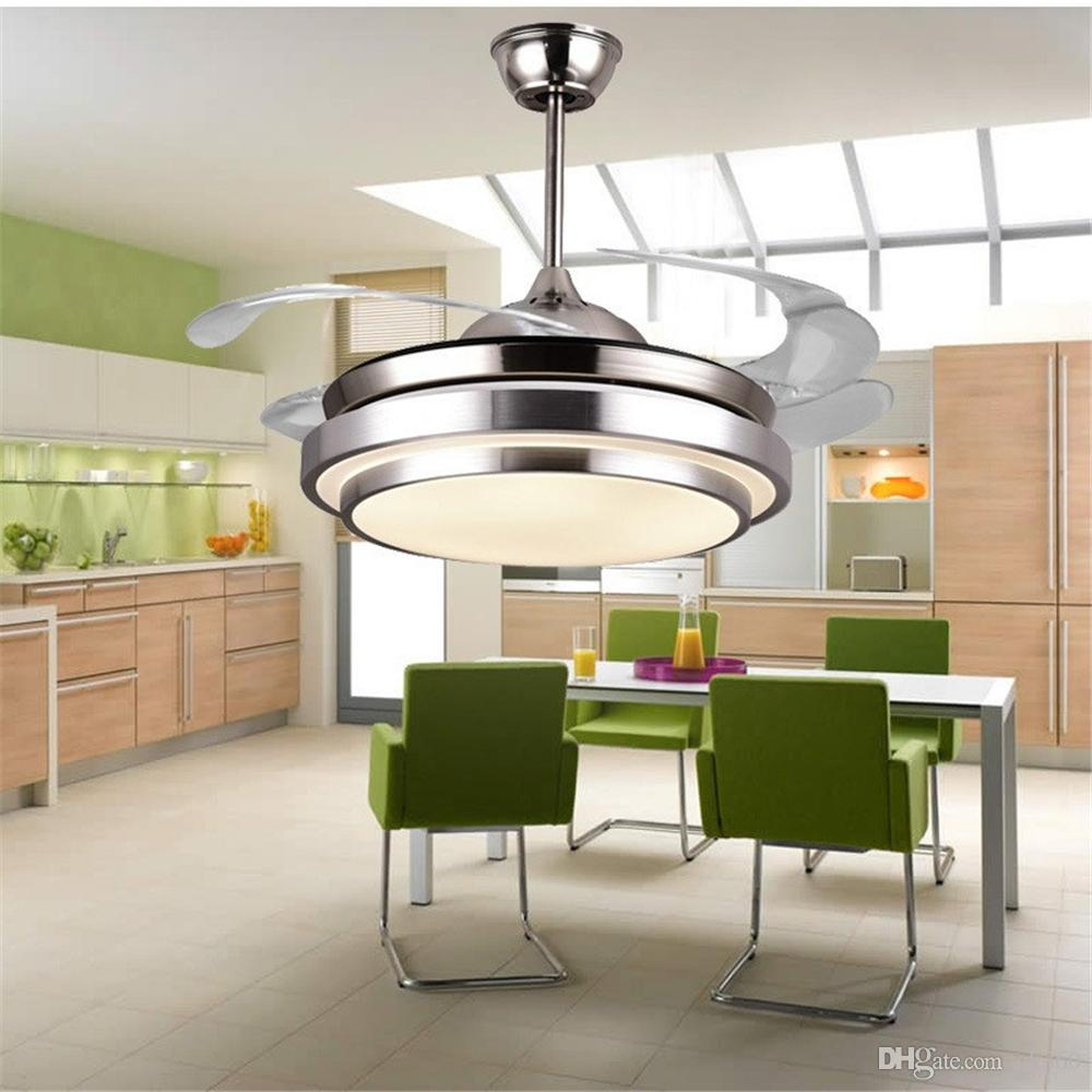 . Ultra quiet ceiling fan 100 240v invisible ceiling fans modern fan lamp for  living room  european ceiling lights with lights