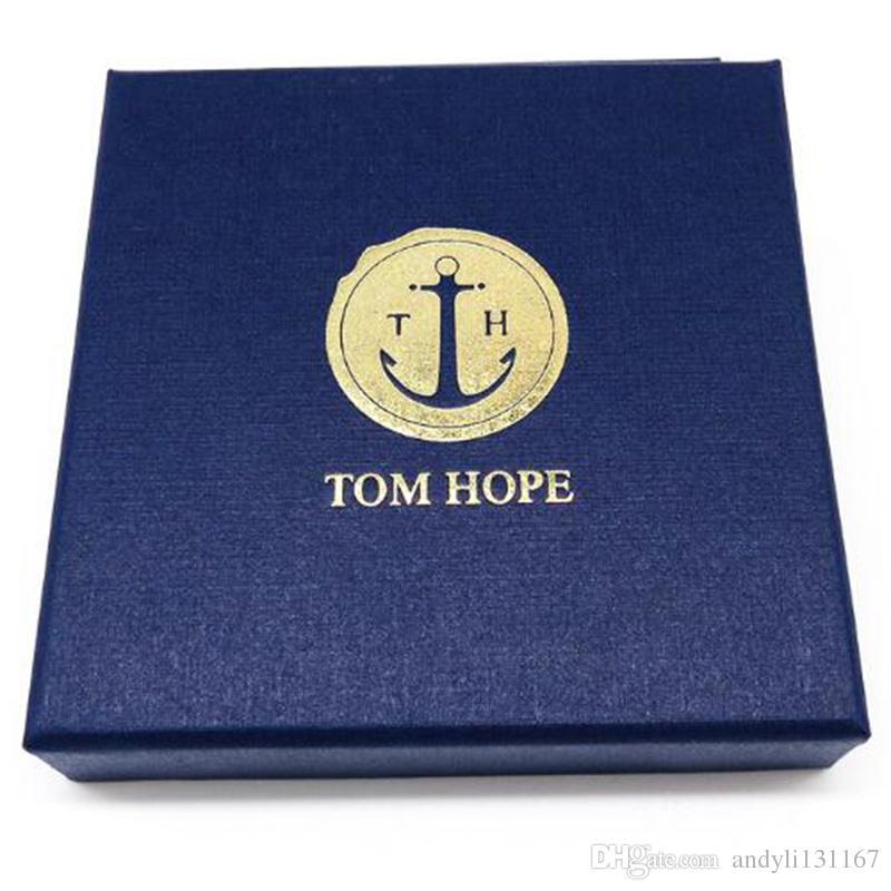 4 tamaño pulsera de ancla de acero inoxidable Tom Hope mujeres pulsera de cuerda rosa perla con caja y etiqueta TH12