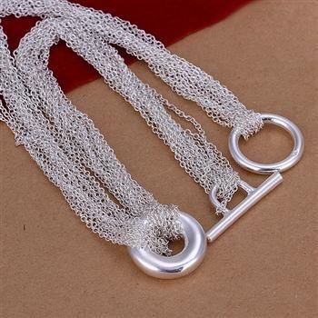 Groothandel - detailhandel laagste prijs kerstcadeau 925 zilveren mode-sieraden gratis verzending ketting N54