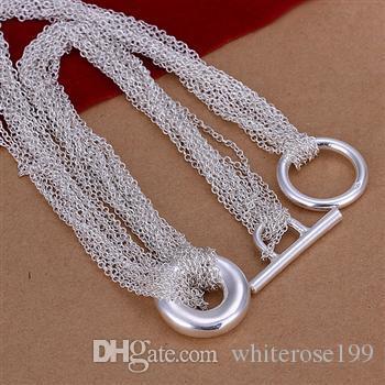 Wholesale  - 小売価格クリスマスギフト925シルバーファッションジュエリー送料無料ネックレスN54