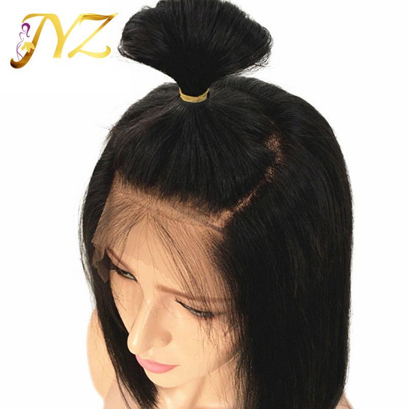 Bob Straight Lace Front Perruques Full Lace Wigs Naturel Droit 8-28 pouces En Stock Non Transformés Pas Cher Brésilienne Vierge Perruques de Cheveux Humains