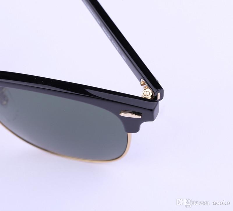 AOOKO Hot Sale Designer Pop Club Gafas de sol de moda Hombres Gafas de sol Mujeres Retro Verde G15 gris marrón Negro Mercury lente Nueva bisagra 49mm 51mm