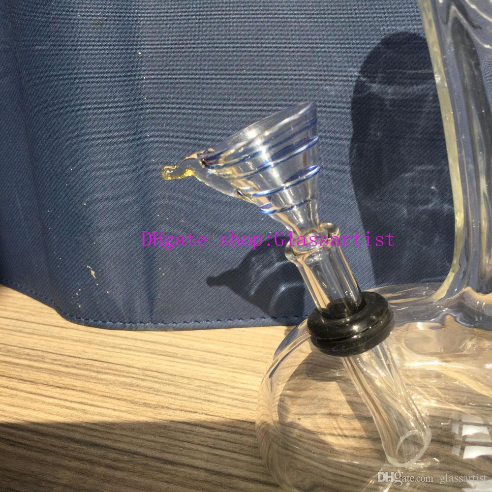 The glass bong, Aluminum alloy downstem CLEARANCE glass water pipes