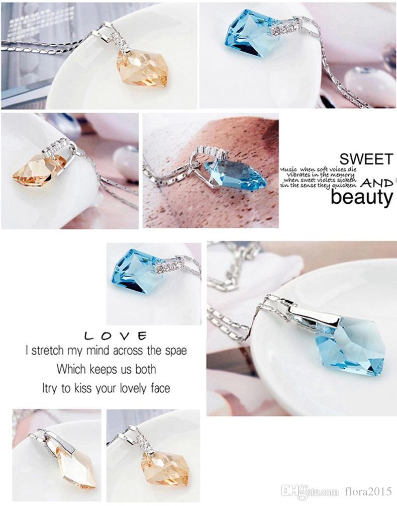 Wish Stone Fashion Necklace Earrings For Women Jewelry Sets Real Crystal From Swarovski Wedding Party Gift Accessories