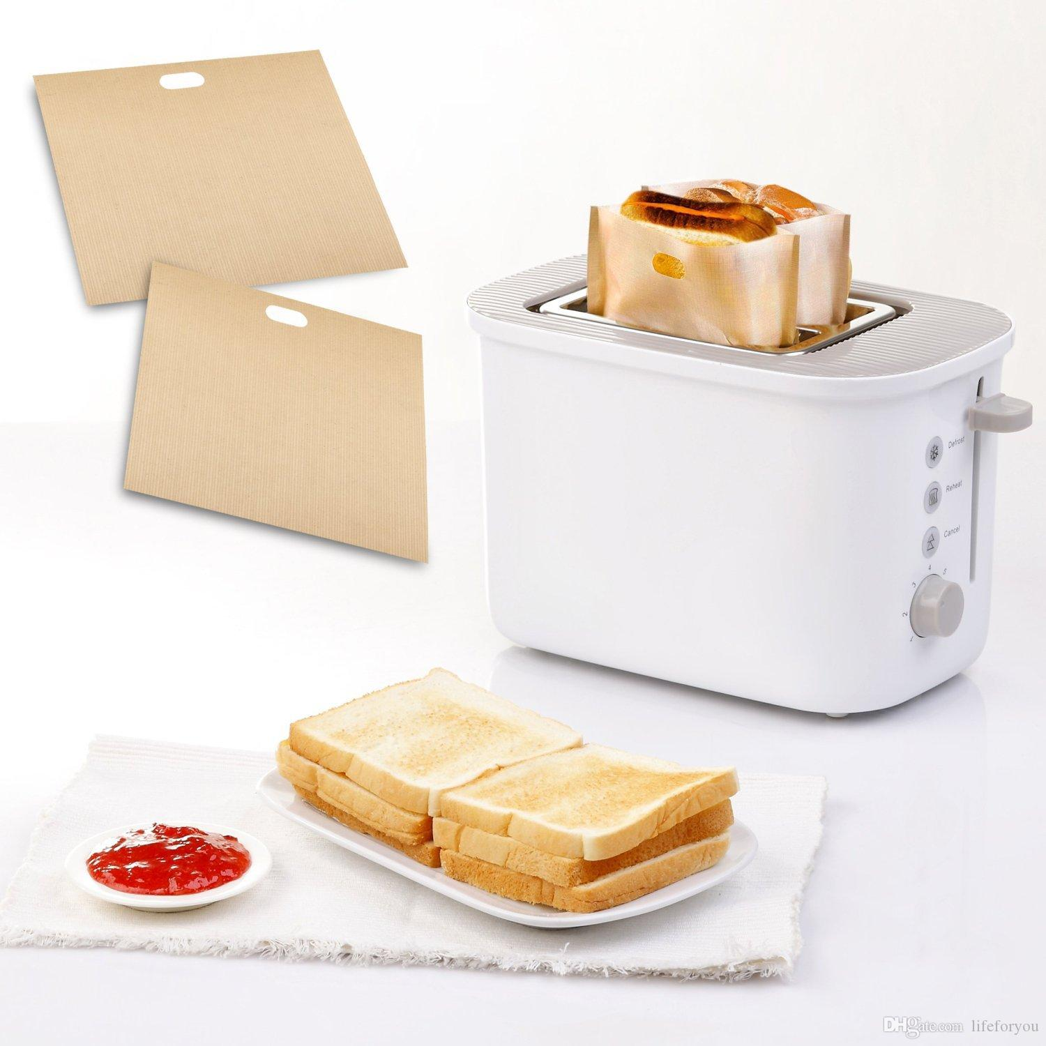 PTFE Sandwich Toasters Bag Safe food grade reusable non stick baking bag  barbecue microwave oven bag BBQ bags 6 7 x 7 5