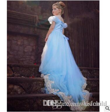 Kleid bodenlang blau