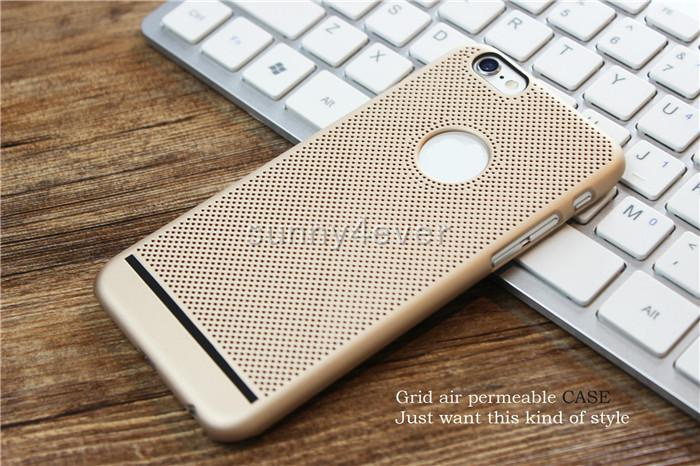Ultra-thin Heat Dissipation Mesh PC Case For Iphone 7 plus 6 6s 5 5s se New Pattern