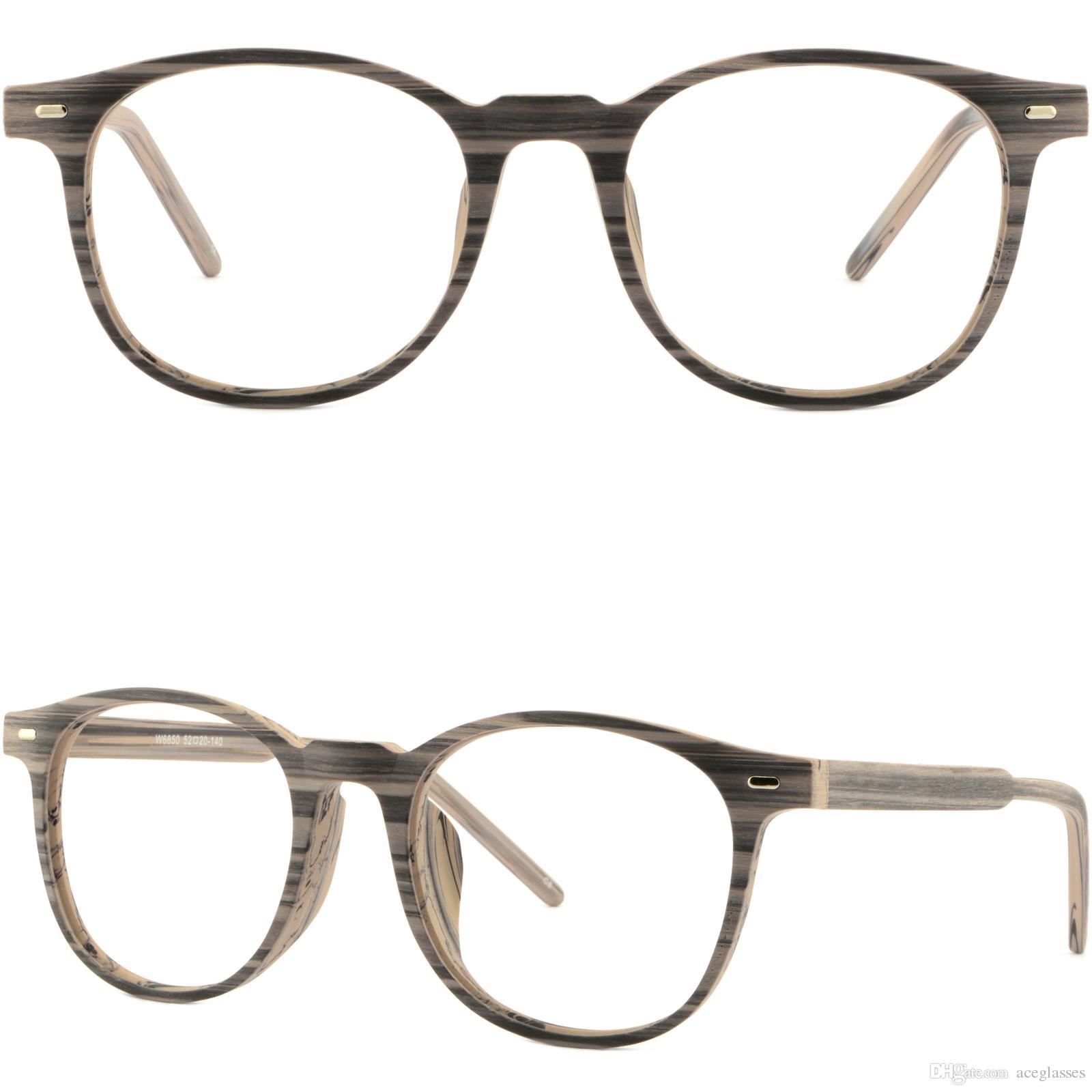 a73e79e610adc Brillengestell Fassung Square Mens Women Frames Wood Grain Acetate  Prescription Glasses Sunglasses Grey Nerd Glasses Frames Plastic Frames  From Aceglasses