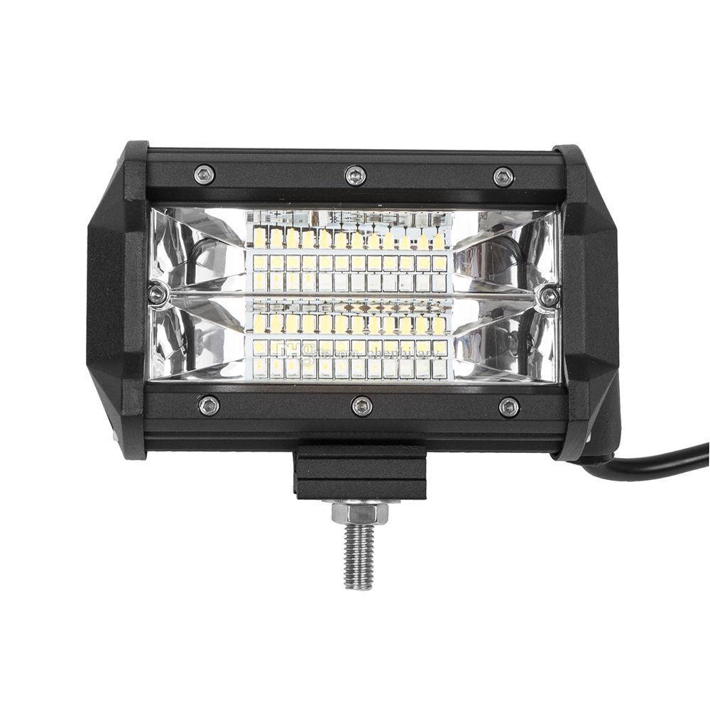 2 pz 5 pollici 72 W Off road LED Light Bar Flood Matita LED Luce di Lavoro Bar Impermeabile di Guida Fendinebbia ATV SUV Off Road Jeep Barca Lampada