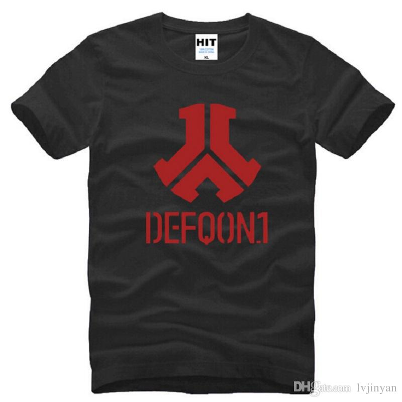 New Designer Defqon 1 T Shirts Men Cotton Short Sleeve Rock And Roll Band Men's T-Shirt Summer Style Male Music Hip Hop Top Tee