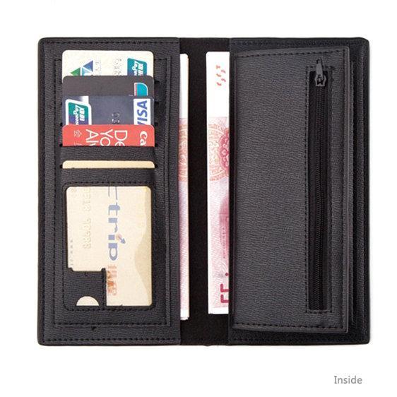 Fort noche billetera TPS disparar juego corto monedero largo de cuero buena nota de caja Caja del dinero tarjetero titulares de la tarjeta del bolso Burse sueltos