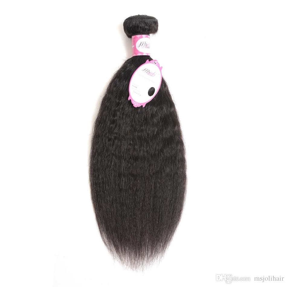 البرازيلي عذراء الشعر شعر الإنسان غريب مستقيم ياكي اللون الطبيعي 3 حزم 3 صورة / الكثير ملكة الشعر لحمة مزدوجة من السيدة جولي
