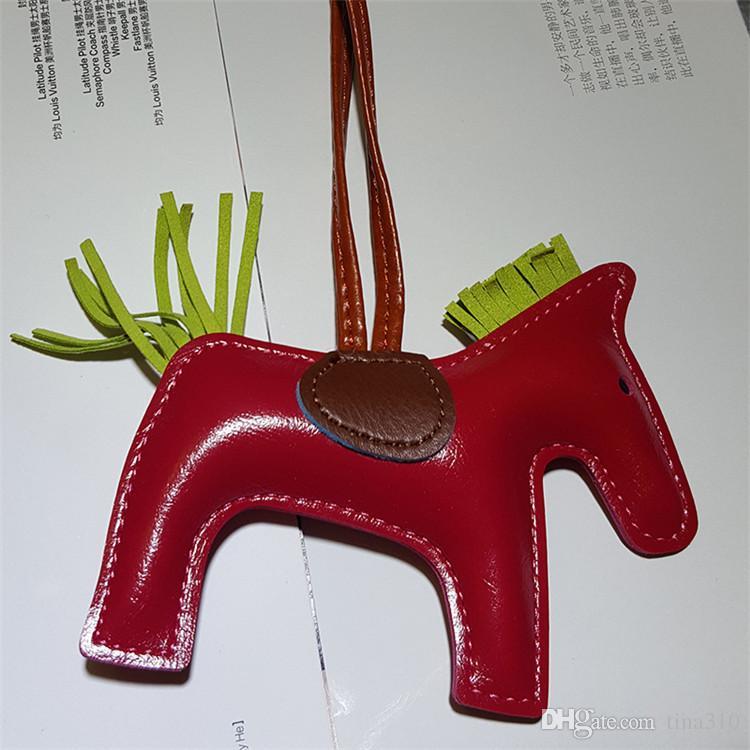 Bolso colgante de la moda creativa Bolso de la PU del cuero de la PU Bolsos de la cadena dominante Accesorios Borla colgar hecho a mano de cuero con flecos Poni CB129