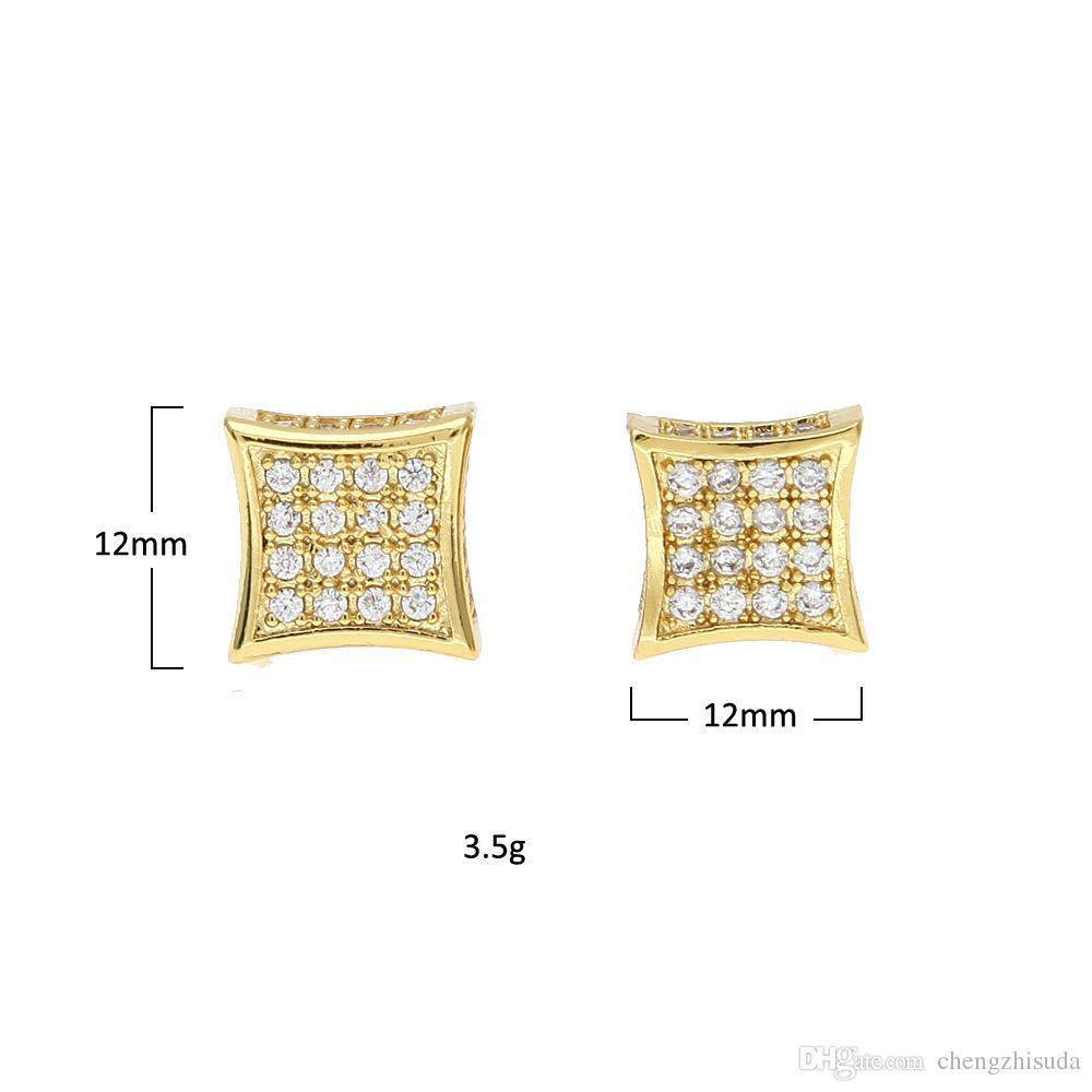 Роскошные серьги полный Кристалл циркония CZ серьги модные высокое качество золото серебристый цвет Мужчины Женщины панк Brincos
