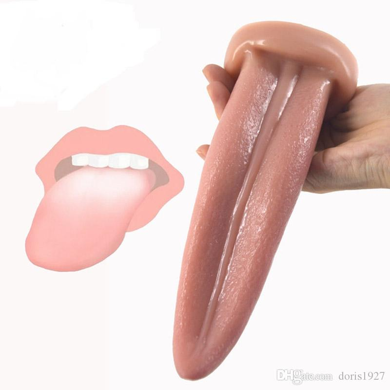 Lifelike Tongue Sex Toy Lick Anal Vagina Clitoris Cm Flexible Soft Tongue Shape Dildo For Clitoral Masturbation Lick Tongue Sex Toy Vibrating Tongue