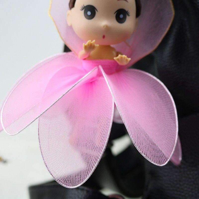 Boneca Chaveiro Confundido Tela Feita à Mão Pura Orelha De Coelho De Lótus Bowknot Princesa Boneca Pingente Multicolorido Selecionar 16Cm 6 9 hx I1