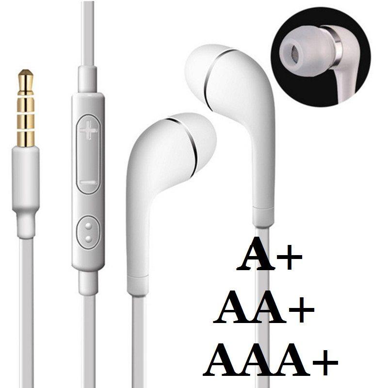 Auriculares estéreo de 3,5 mm en la oreja con fideos planos Auriculares con micrófono y control remoto para Samsung Galaxy S3 S4 S5 S6 Nota 2 3 4 A + J5