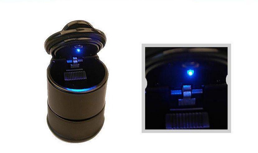 Struttura alta Posacenere veicoli Posacenere auto Ignifugo con luce LED 9.5x7cm Nero Accessori sigarette portatili di alta qualità DHL libero