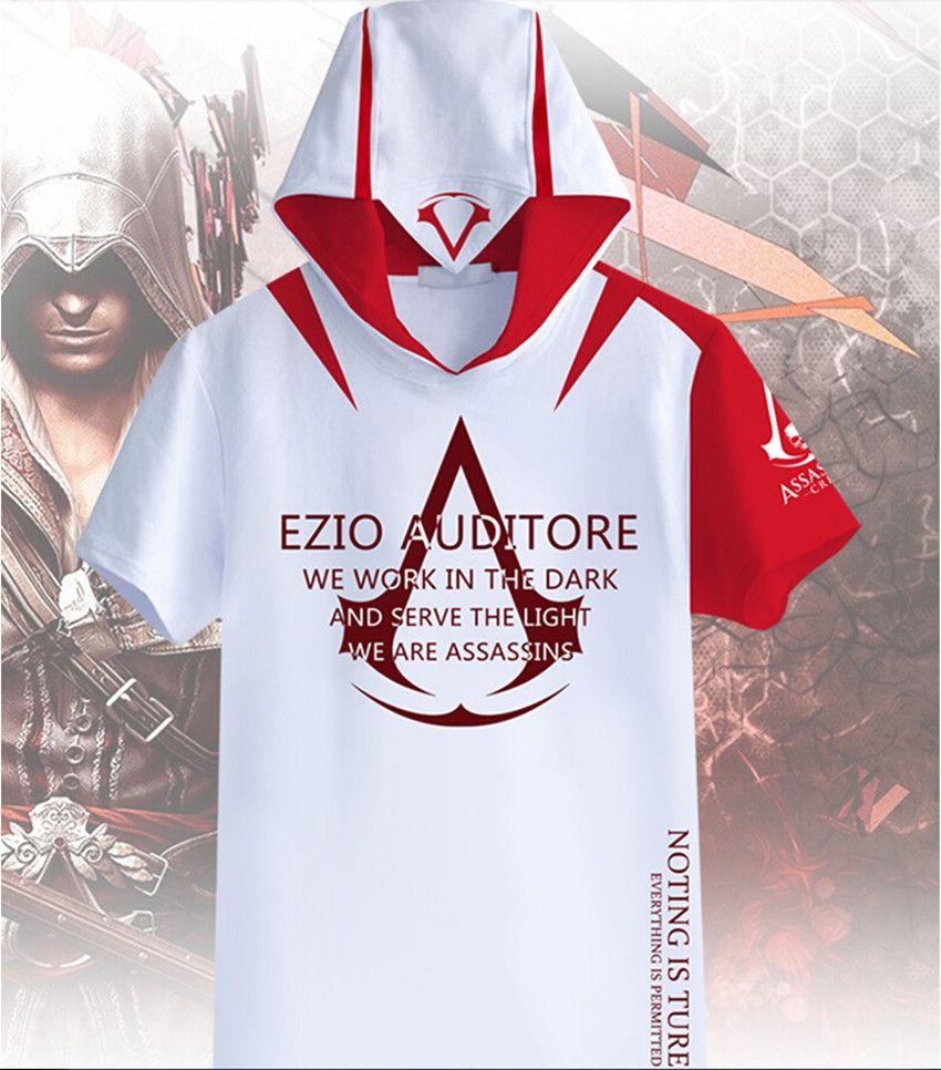 cc7d1ecab New Men Women Assassins Creed Firenze T Shirt Summer Tee Short Sleeves  Sweatshirts Hoodie Tops Print Anime Casual Top Hooded Funny T Shirts Prints  Funky T ...