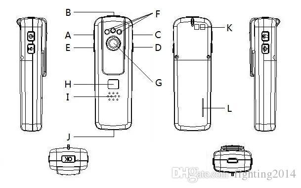 Uzaktan kumanda ile Mini Kalem Kamera 1080 P mini DV gece görüş hareket Algılama ses video kaydedici vücut kamera araba DVR siyah